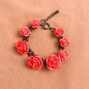 H&M Pink Rose Charm Bracelet